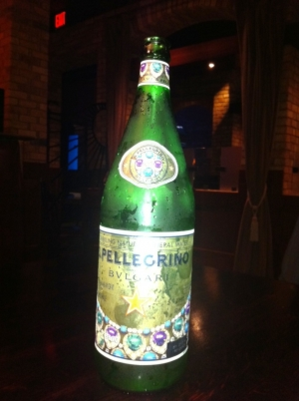 Co-branded Sparkling Mineral Water - Bvlgari and Pellegrino