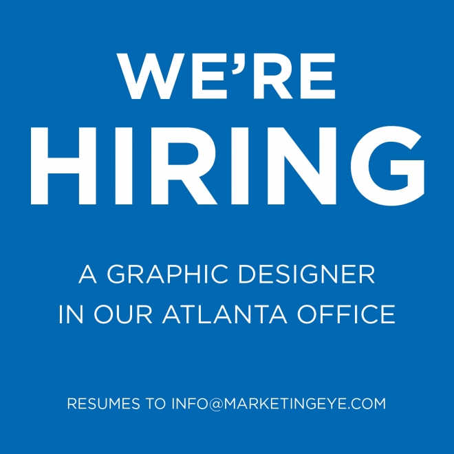 Now Hiring: Graphic Designer at Marketing Eye Atlanta